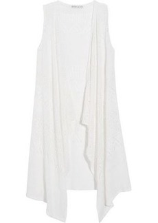 Alice + Olivia Woman Brennen Crocheted Linen-blend Vest White