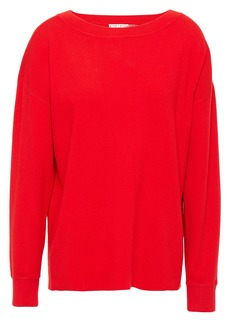 Alice + Olivia Woman Button-detailed Knitted Sweater Red