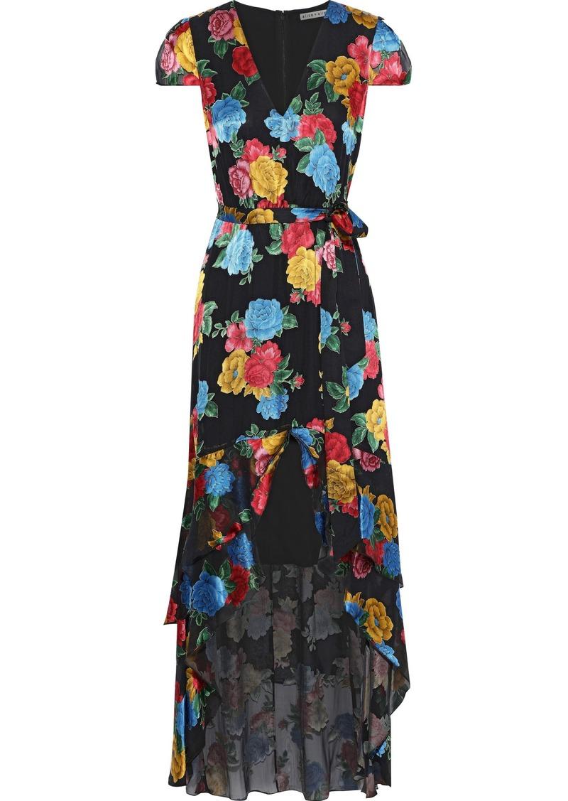 Alice + Olivia Woman Camellia Asymmetric Floral-print Fil Coupé Chiffon Dress Multicolor