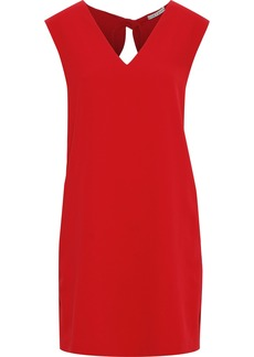 Alice + Olivia Woman Carita Tie-back Crepe Mini Dress Crimson
