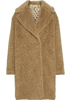 Alice + Olivia Woman Charlie Oversized Faux Shearling Coat Camel