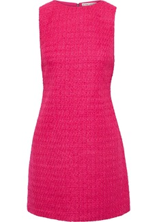 Alice + Olivia Woman Clyde Bouclé-tweed Mini Dress Bright Pink