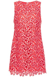 Alice + Olivia Woman Clyde Guipure Lace Mini Dress Red