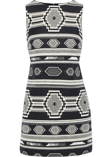 Alice + Olivia Woman Clyde Printed Cotton Mini Dress Black