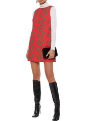 Alice + Olivia Woman Clyde Printed Cotton Mini Dress Red