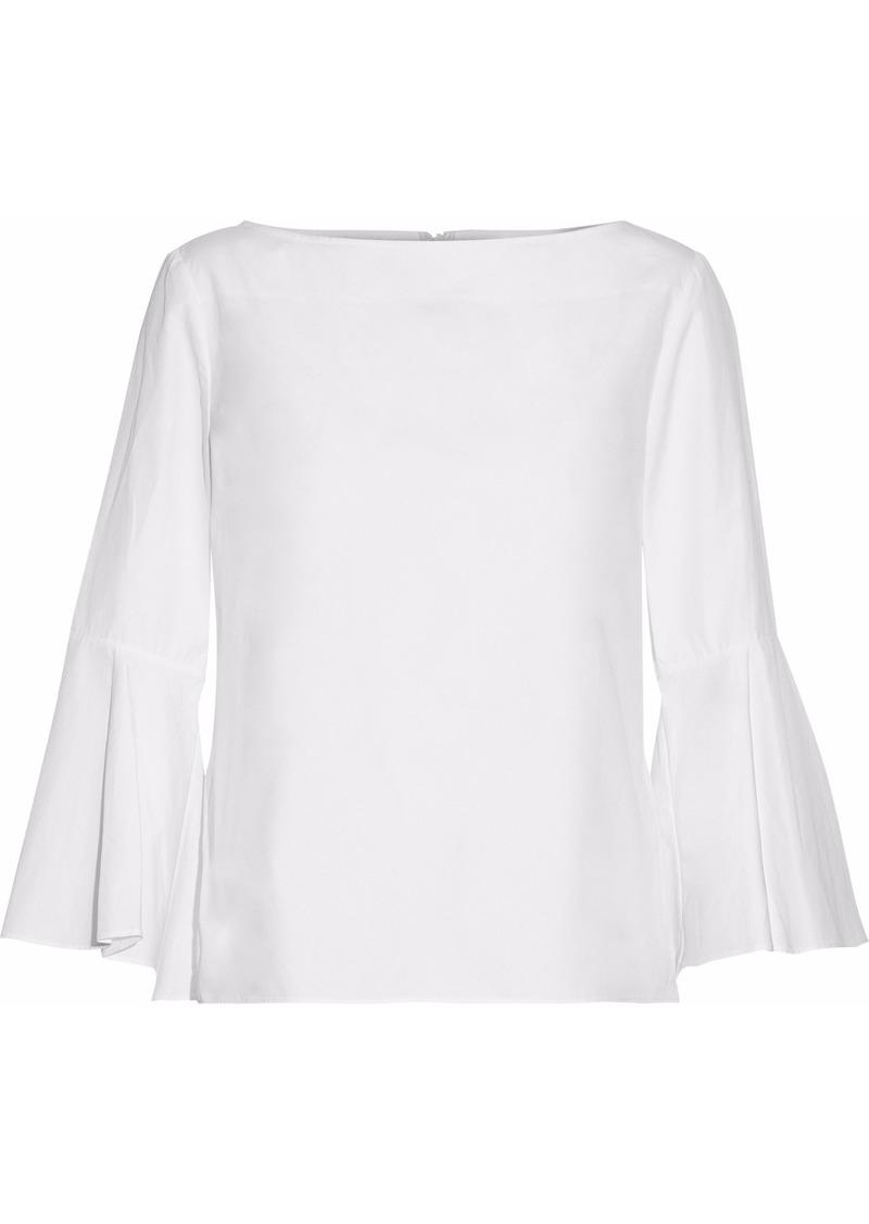 Alice + Olivia Woman Cotton-poplin Top White