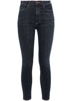 Alice + Olivia Woman Cropped High-rise Skinny Jeans Dark Denim
