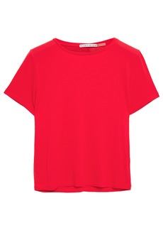 Alice + Olivia Woman Cropped Stretch-jersey T-shirt Red