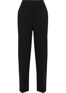 Alice + Olivia Woman Cropped Wool-blend Woven Tapered Pants Black
