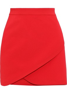 Alice + Olivia Woman Dasia Wrap-effect Crepe Mini Skirt Red