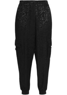 Alice + Olivia Woman Dede Jacquard Tapered Pants Black