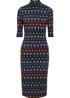 Alice + Olivia Woman Delora Printed Stretch-jersey Turtleneck Midi Dress Multicolor