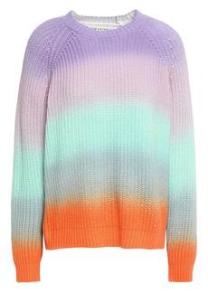 Alice + Olivia Woman Dona Dégradé Cotton-blend Sweater Multicolor