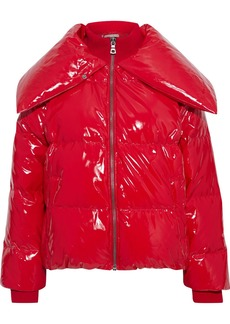 Alice + Olivia Woman Durham Quilted Glossed-shell Down Jacket Red