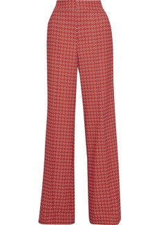 Alice + Olivia Woman Dylan Printed Crepe Wide-leg Pants Red