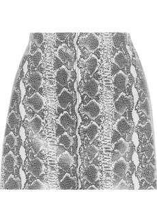 Alice + Olivia Woman Elana Snake-effect Leather Mini Skirt Animal Print