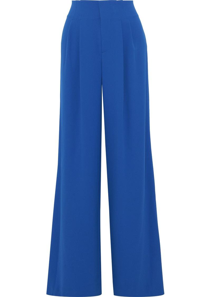 Alice + Olivia Woman Eloise Crepe Wide-leg Pants Bright Blue