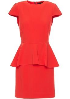 Alice + Olivia Woman Ember Stretch-crepe Peplum Mini Dress Tomato Red