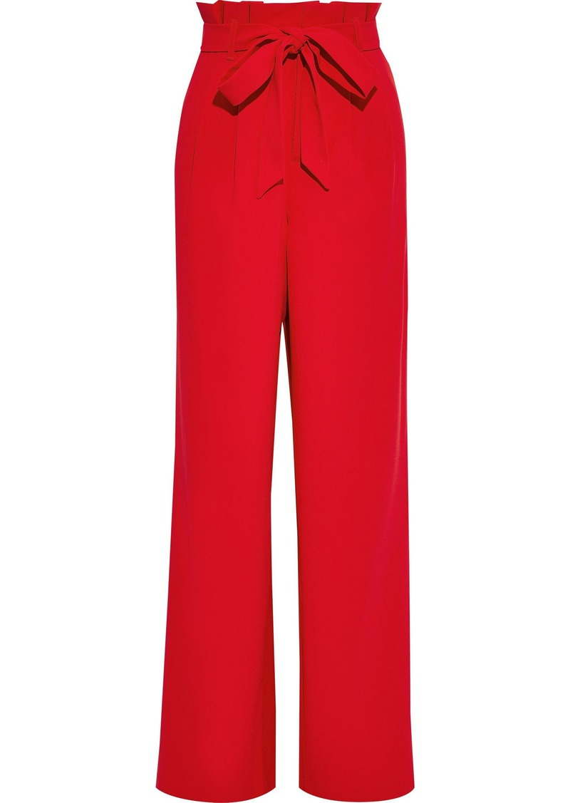 Alice + Olivia Woman Farrel Bow-detailed Crepe Wide-leg Pants Red
