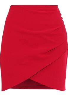 Alice + Olivia Woman Fidela Ruched Crepe Mini Skirt Red