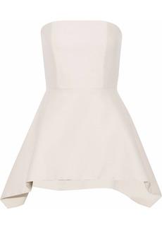 Alice + Olivia Woman Flared Wool-blend Mini Dress Beige