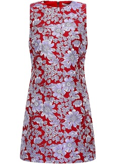 Alice + Olivia Woman Floral-jacquard Mini Dress Red