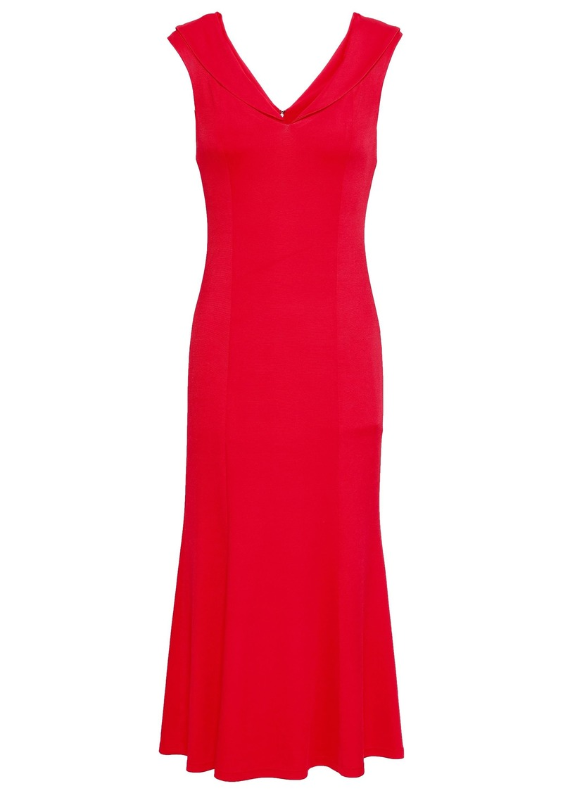 Alice + Olivia Woman Fluted Ponte Dress Red