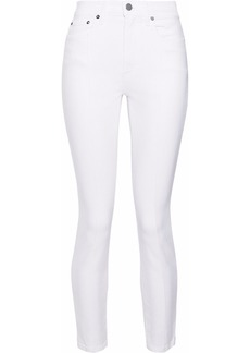 Alice + Olivia Woman Good Cropped High-rise Skinny Jeans White