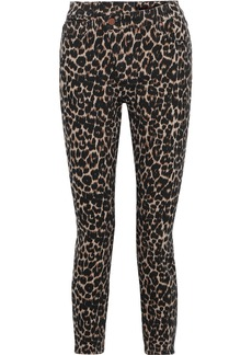 Alice + Olivia Woman Good Cropped Leopard-print High-rise Skinny Jeans Animal Print