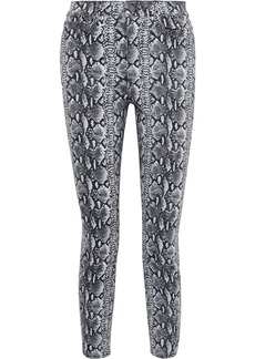Alice + Olivia Woman Good Cropped Snake-print High-rise Skinny Jeans Animal Print