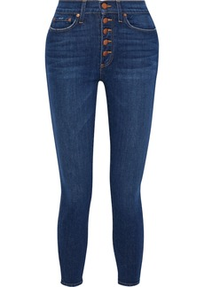 Alice + Olivia Woman Good Times Cropped High-rise Skinny Jeans Mid Denim
