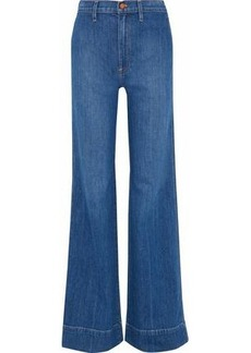 Alice + Olivia Woman Gorgeous High-rise Flared Jeans Mid Denim