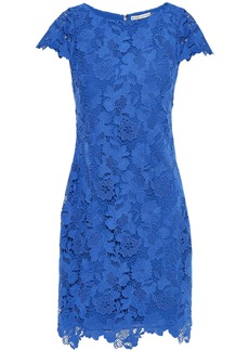 Alice + Olivia Woman Guipure Lace Mini Dress Cobalt Blue