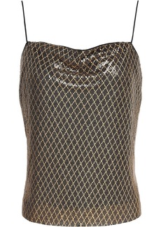 Alice + Olivia Woman Harmony Chainmail Camisole Gold
