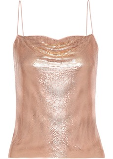 Alice + Olivia Woman Harmony Chainmail Camisole Rose Gold