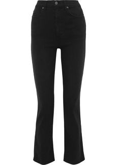 Alice + Olivia Woman High-rise Bootcut Jeans Black