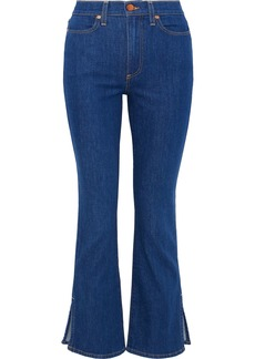 Alice + Olivia Woman High-rise Bootcut Jeans Mid Denim