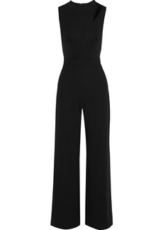 Alice + Olivia Woman Ivy Cutout Cady And Crepe Wide-leg Jumpsuit Black