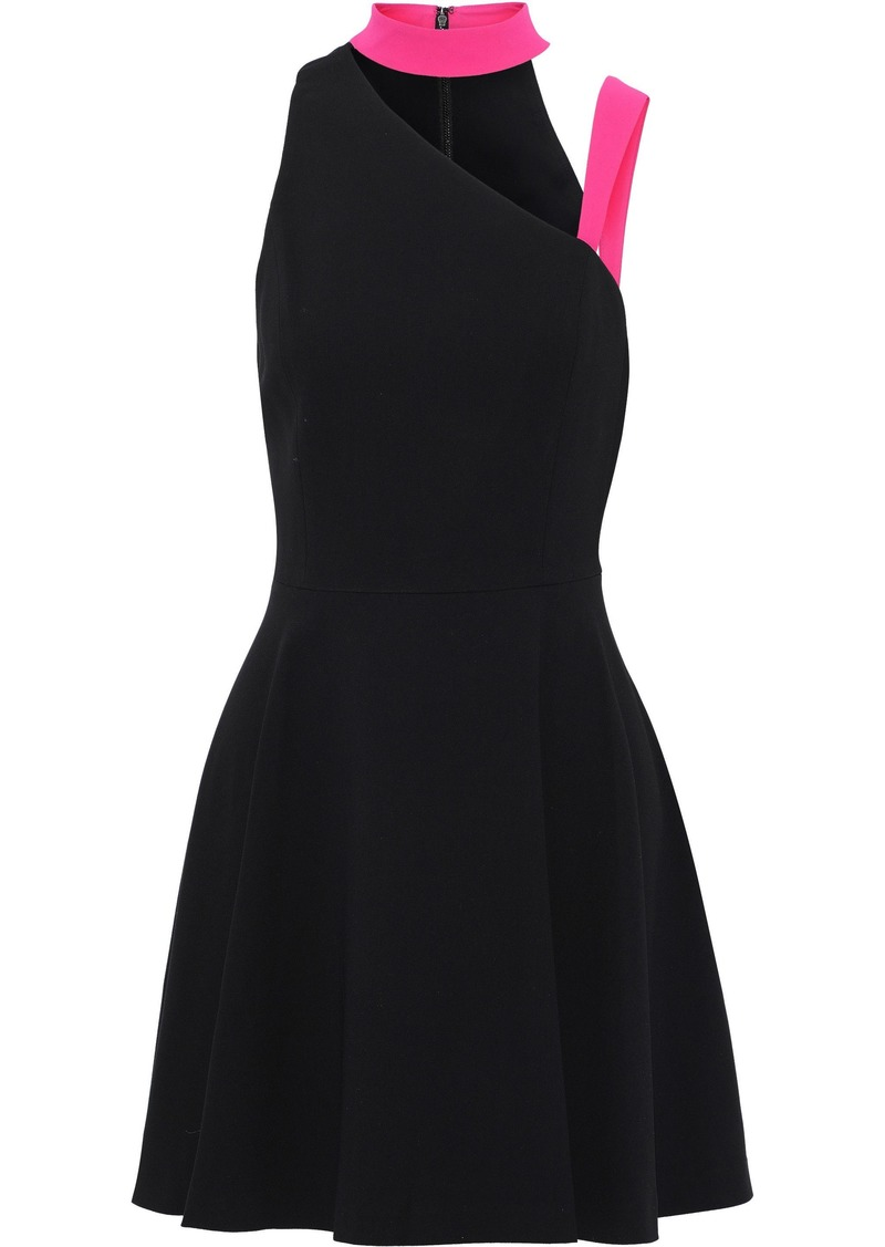 Alice + Olivia Woman Jana Cutout Crepe Mini Dress Black