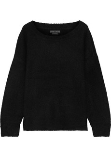 Alice + Olivia Woman Jessie Wool-blend Bouclé Sweater Black