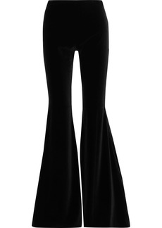 Alice + Olivia Woman Jinny Velvet Flared Pants Black