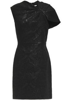 Alice + Olivia Woman Kiro Gathered Metallic Jacquard Mini Dress Black
