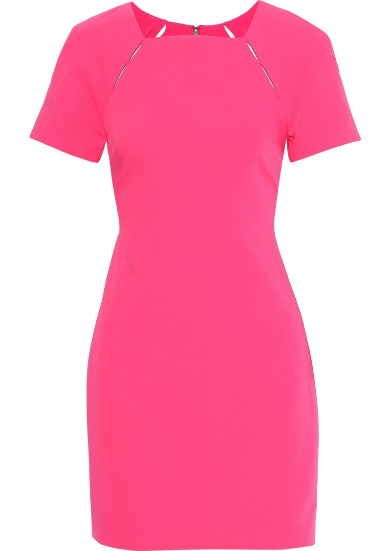 Alice + Olivia Woman Kristiana Cutout Stretch-cady Mini Dress Fuchsia