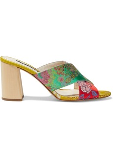 Alice + Olivia Woman Landly Brocade Mules Multicolor