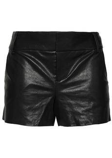 Alice + Olivia Woman Leather Shorts Black