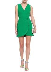 Alice + Olivia Woman Lennon Zip-detailed Crepe Mini Dress Green