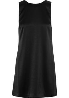 Alice + Olivia Woman Lita Draped Satin Mini Dress Black