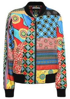 Alice + Olivia Woman Lonnie Reversible Printed Satin Bomber Jacket Multicolor