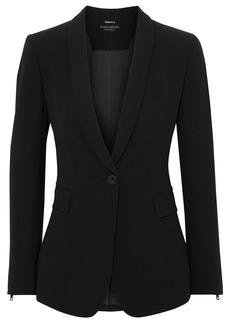Alice + Olivia Woman Macey Zip-detailed Crepe Blazer Black
