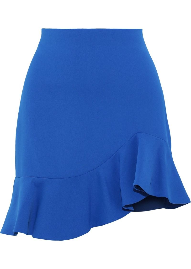 Alice + Olivia Woman Marcella Ruffled Crepe Mini Skirt Cobalt Blue